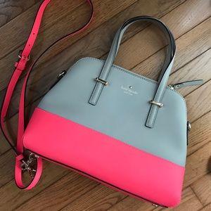 Handbags - Kate Spade Coral and Gray bag